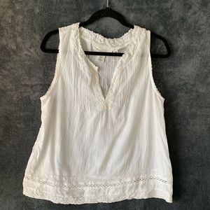 White Lace Tank from L.O.G.G. H&M